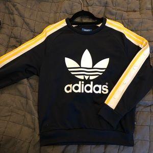 Rita Ora for Adidas snap sleeve sweatshirt
